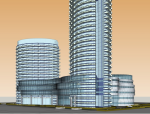 WESTIN-蝴蝶商务酒店设计方案SU模型