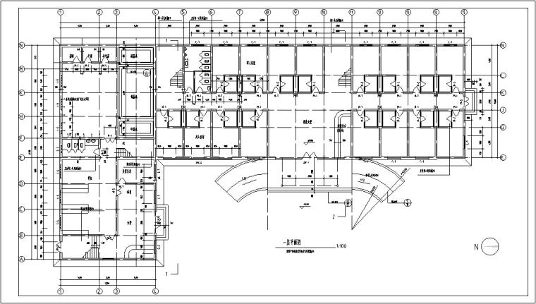 5套现代多层宾馆酒店建筑设计施工图CAD-多层宾馆建筑设计平面图