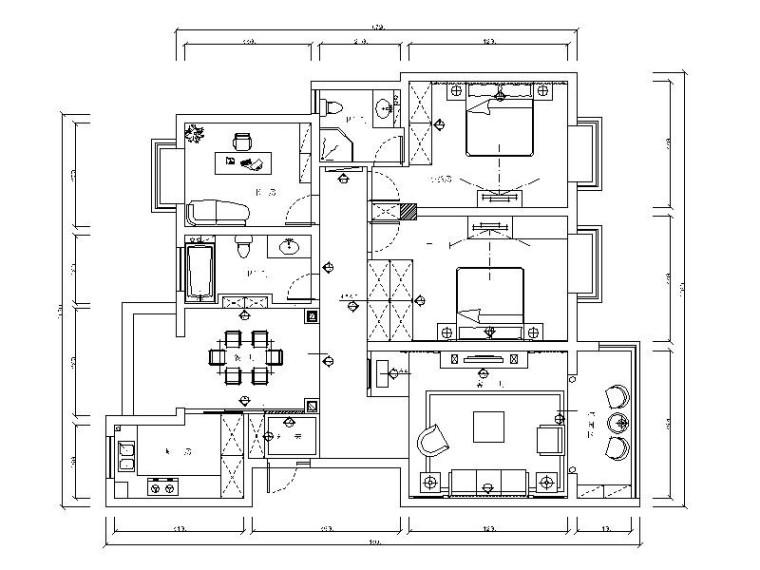 [南宁]现代温馨小户型2室2厅室内设计装修图