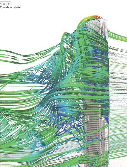 滨湖知名地产中心商务区超高层建筑设计方案分析图