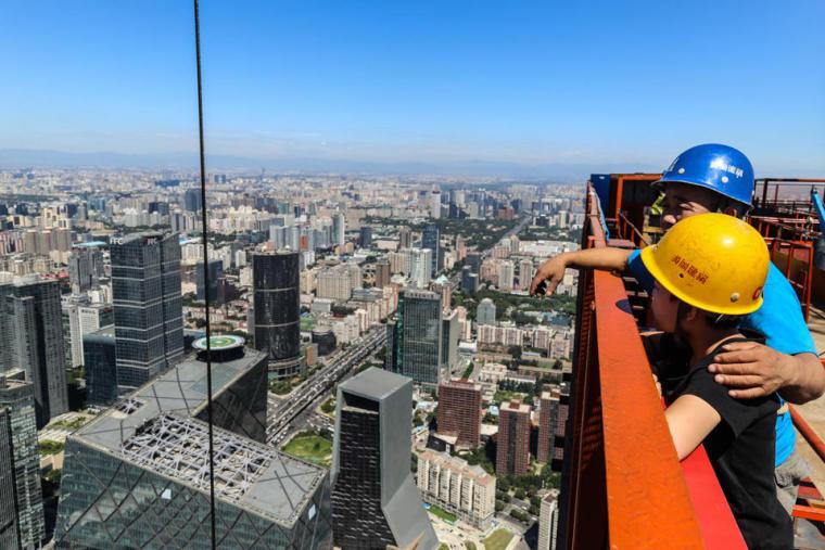 北京最高楼建设者 焊丝可绕地球6圈