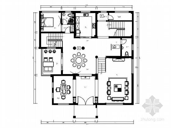 [重庆]新中式风格四层别墅装修图(含效果)