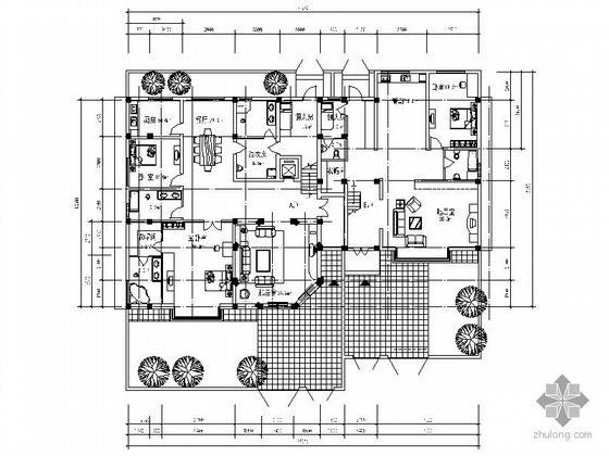 某二层双拼别墅平面户型