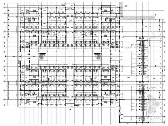 大型展馆空调通风及防排烟系统设计施工图(风冷热泵机组)