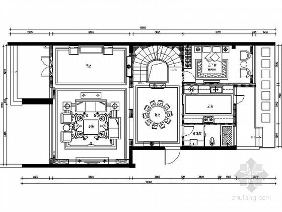 精品豪华中式风格两层别墅装修室内设计施工图(含效果)