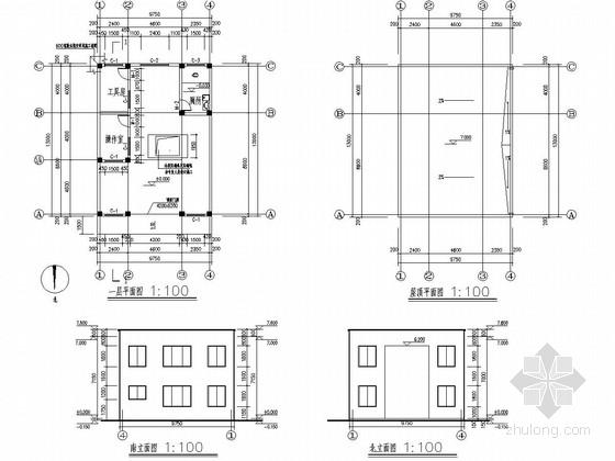 单层框架结构压缩式垃圾中转站及附房结构施工图(含建筑图)