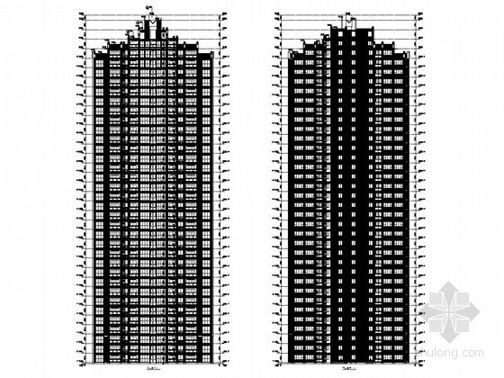 32层剪力墙结构安置小区高层住宅结构施工图(含建筑施工图)