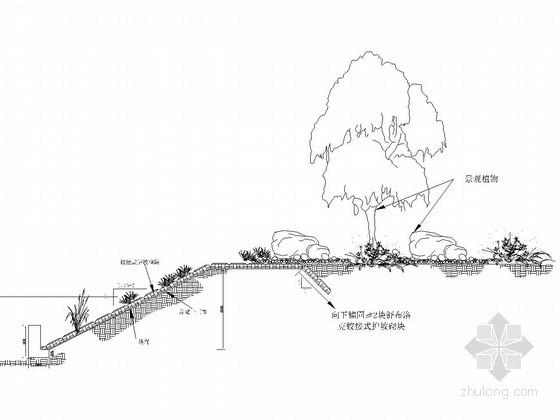 铰接式护坡断面图(2m和5m)