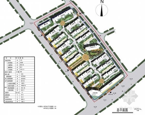 英伦风多层及高层住宅区规划设计总平面图