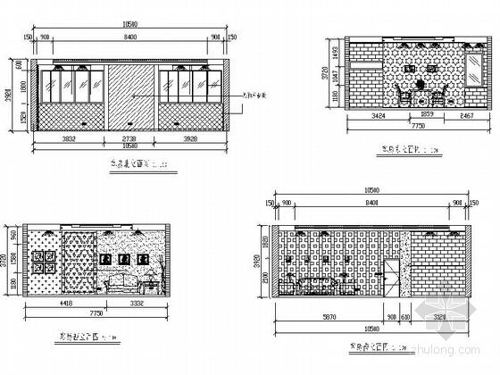 [毕业设计]中式风情度假酒店设计装修施工图客房立面图