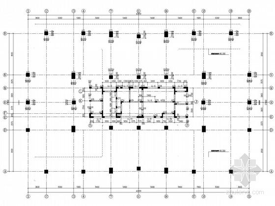 23层混凝土框架核心筒住宅结构施工图(筏板基础)