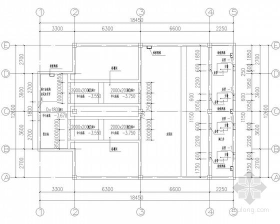 雨水泵站-泵房框架结构施工图