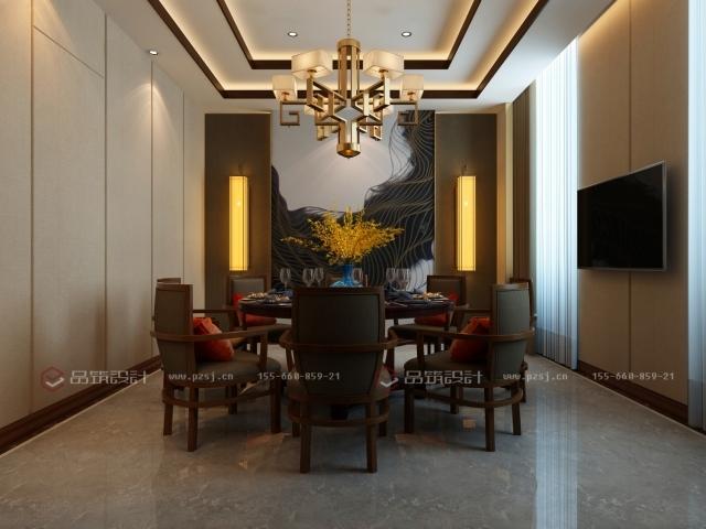 第一次见到这么美的私人办公会所设计效果图-5餐厅.jpg