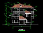三层别墅扩出图带结构.模型
