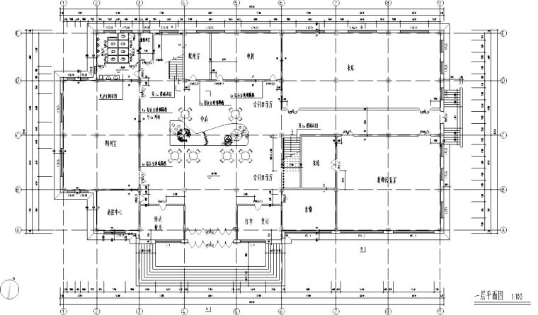 [福建]某五层学校图书馆设计施工图