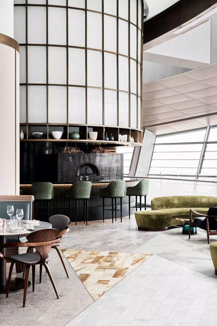 迪拜地标旁的2000平米超大餐厅,精致细节成就奢华设计_11