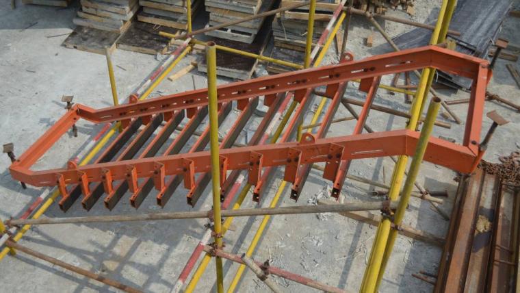新型工具式可调节楼梯钢模板施工技术