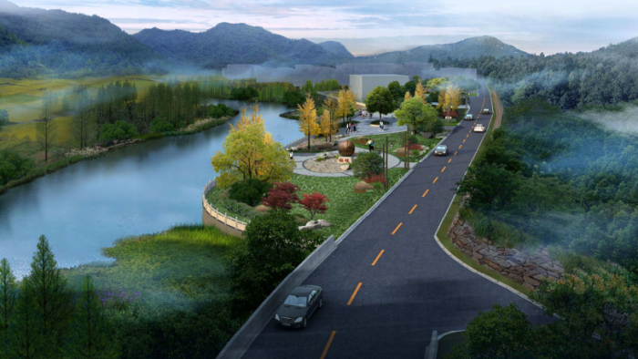 [浙江]乡镇环境综合整治改造城市规划景观设计-景观效果图13