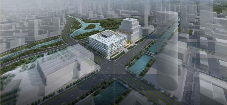 [南京]高层12面体现代风格图书馆建筑设计设计方案文本