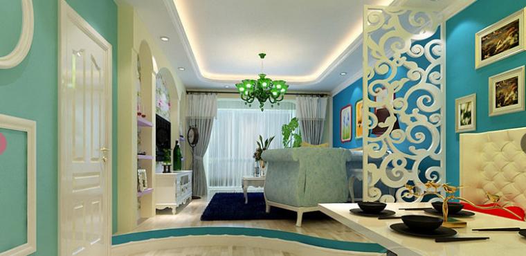 地中海风格二局室90平米
