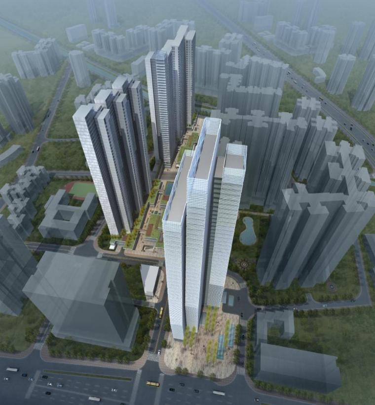 [广东]超高层幕墙立面多业态城市综合体建筑设计方案文本
