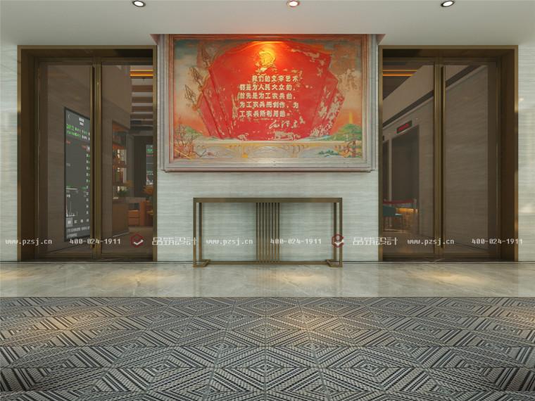体验室内设计资料下载-内蒙古·兴安盟银行室内设计,无法抵挡的中式魅力