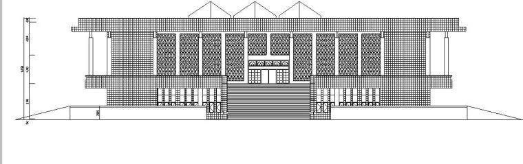 [浙江]三层框架结构图书馆建筑施工图