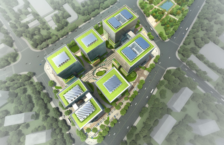 [北京]现代风格某知名电子企业办公楼投标方案文本