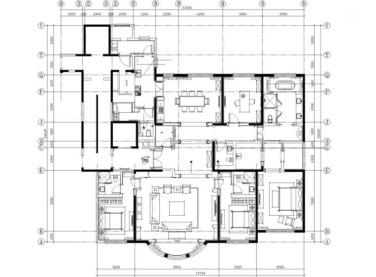 [北京]DCDA戴维国际-北京泛海国际标准层三居室样板房精装修施工图