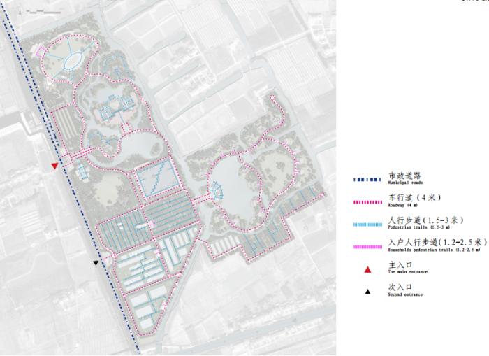 [上海]生态农业旅游庄园景观规划设计方案-总体交通分析