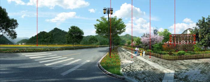 [浙江]乡镇环境综合整治改造城市规划景观设计-景观效果图5