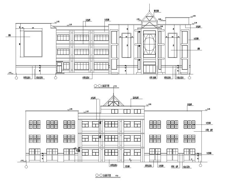[安徽]三层少儿图书馆设计施工图