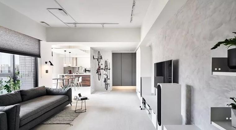 140㎡现代简约风,舒服自在的家就该这样!_2
