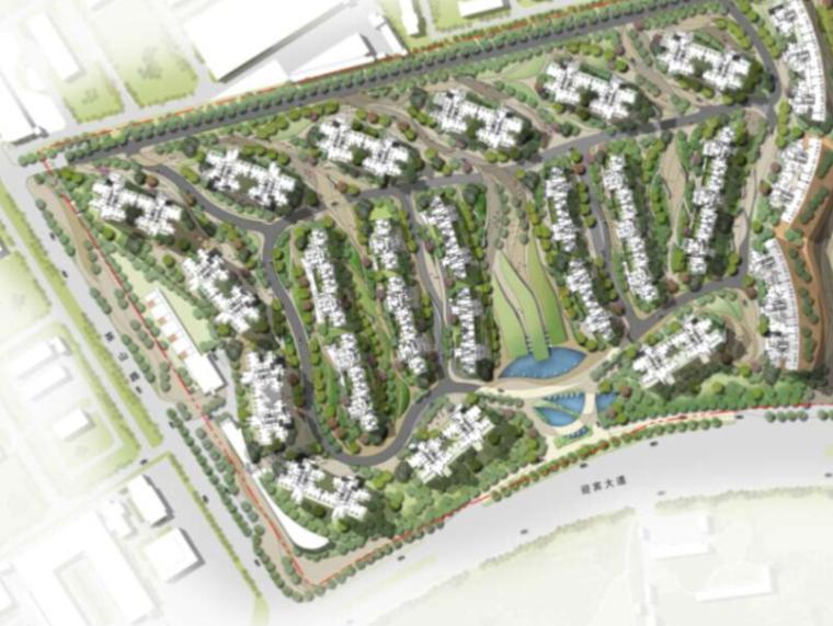 四川和邦青龙嘴住宅项目初步景观概念案设计(现代风格)