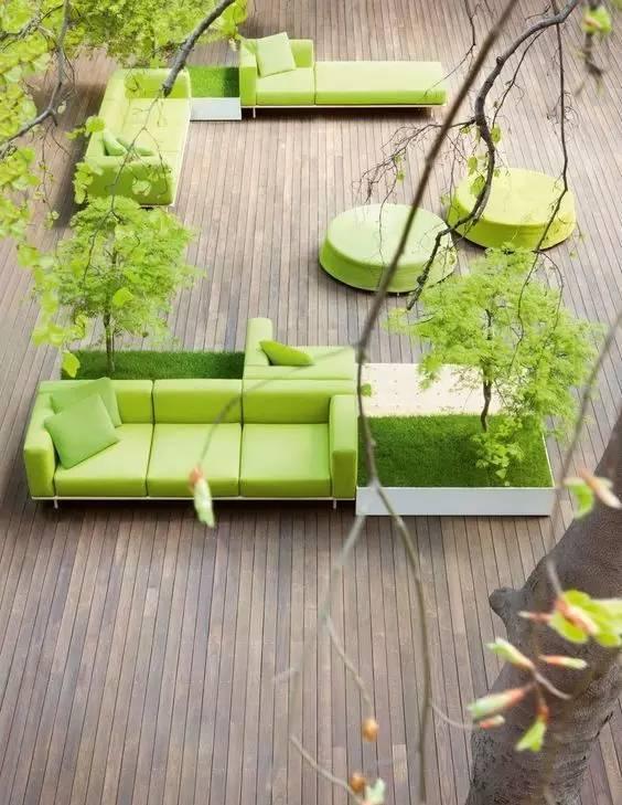 一处漂亮的木平台·庭院必备