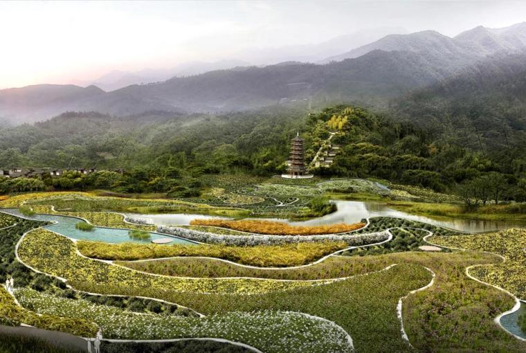 [重庆]南岸区长生桥镇云浮山生态园区规划设计(中药百草植物园)