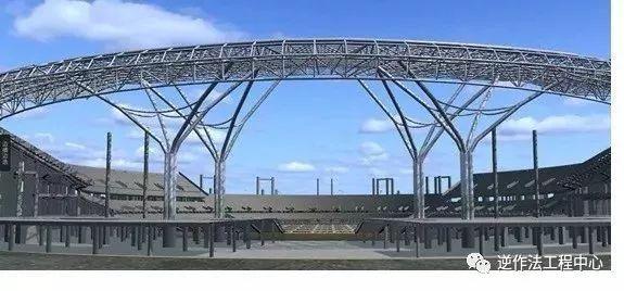 体育场径向环形大悬挑钢结构综合施工技术研究_7