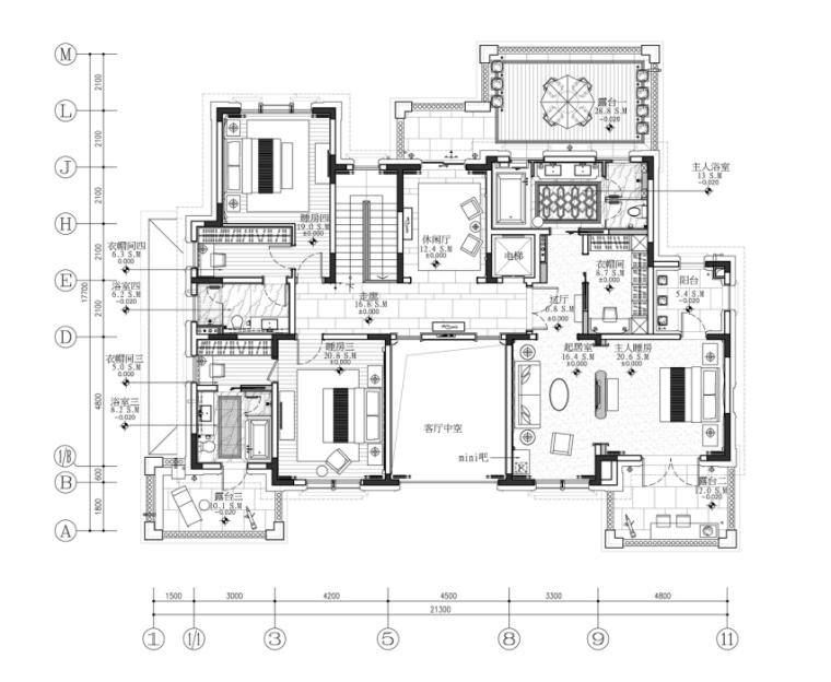 [昆明]新中式3层别墅室内设计施工图(含效果图)