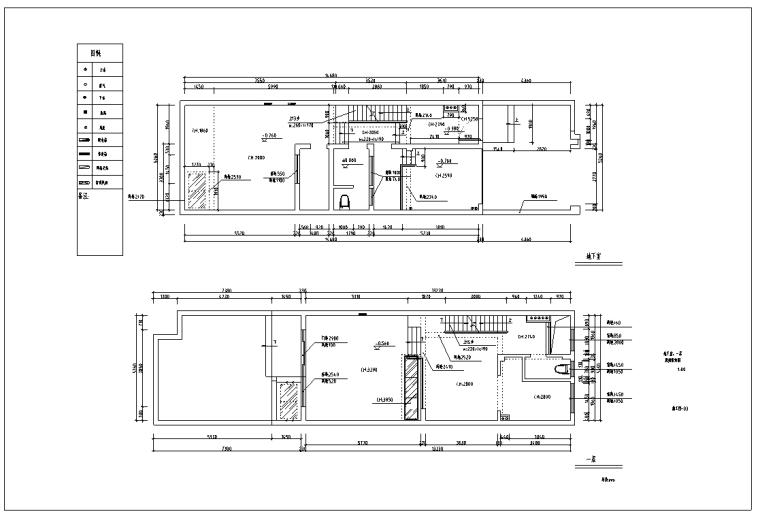 白马别墅室内装修设计施工图及效果图(含PPT方案)