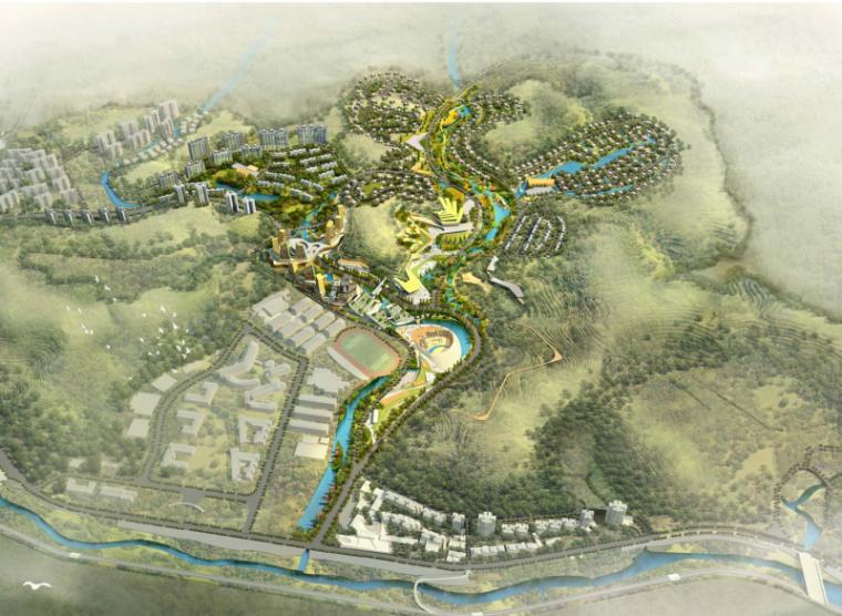 [四川]国际湿地公园生态旅游度假区概念规划(田园、养生)