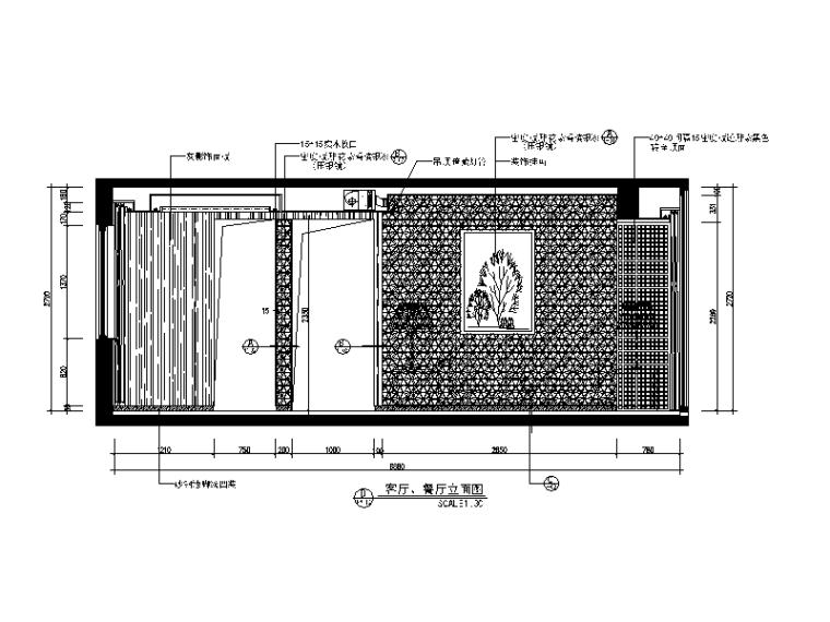 【广东】现代中式风格别墅设计CAD施工图(含效果图)_3