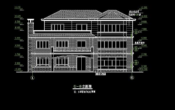单体别墅建筑图