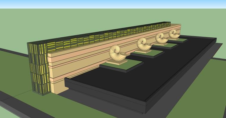 园林景墙庭院景观SU模型设计(10个su模型)_4