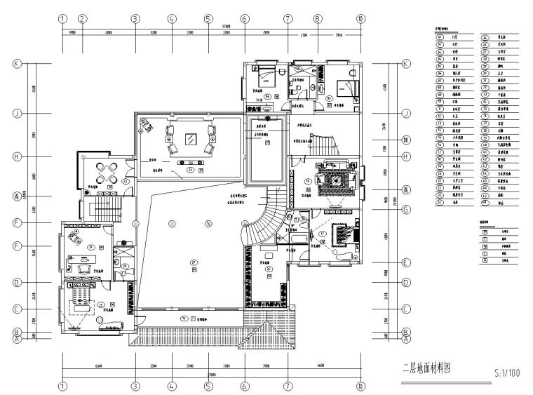 [上海]富春中式风格5层独立别墅施工图_2