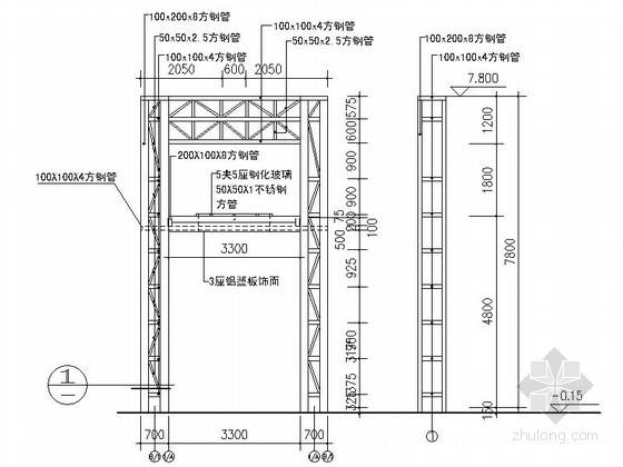 [合集]24套大门建筑施工图(学校、接待中心、公司大门、欧式)_27