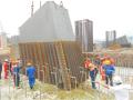 斜拉悬索组合体系桥拱形钢塔竖向转体施工工法