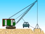 抓铲挖土流程动画演示