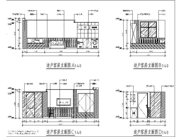 [北京]酒店式公寓室内设计施工图(含效果图)_4