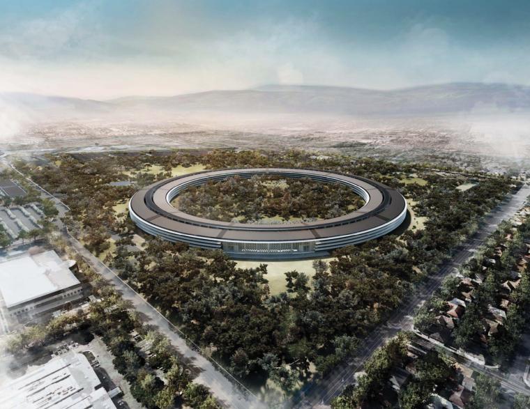 VIVO总部设计方案文本资料下载-诺曼福特斯—苹果飞船总部大楼建筑设计方案文本