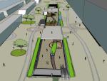 购物中心地下商业街建筑SU模型